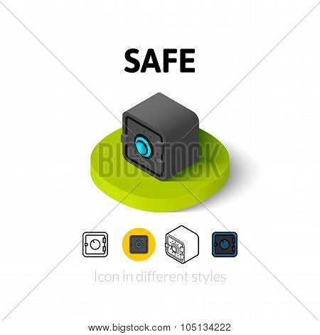 Safe icon in different style