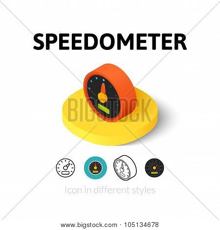 Speedometer icon in different style