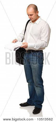 Businessman With Laptop Bag