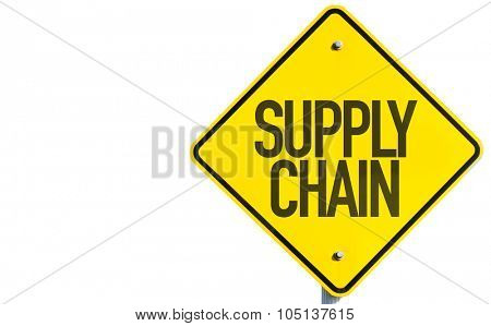 Supply Chain sign isolated on white background
