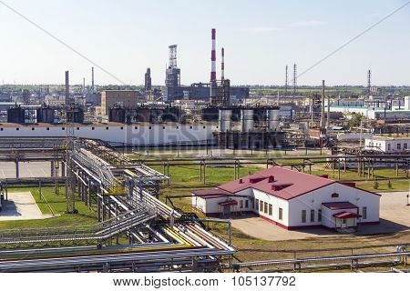 Big Refinery Complex At Summer Daylight