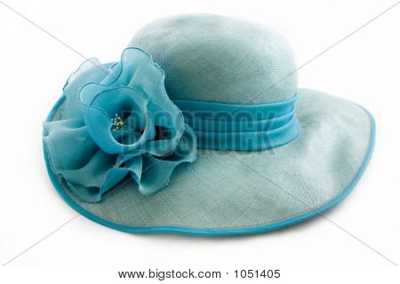 Vintage Turquoise Hat