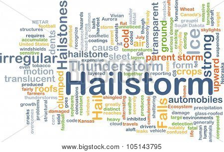 Background concept wordcloud illustration of hailstorm