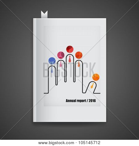 Cover Annual Report,2016. Modern Vector Abstract Brochure,report Or Flyer Design Template.