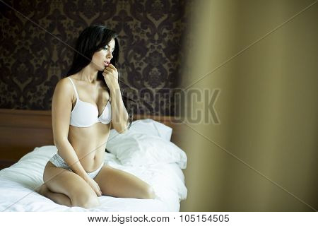 Pretty Woman In The Bed