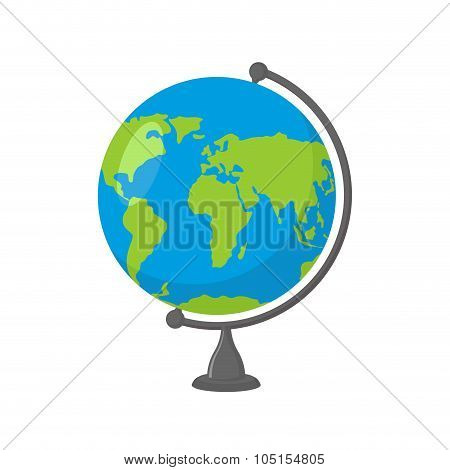 School Globe -  Model Of  Earth. Model Of Celestial Sphere Of Planet. Object Of Learning. Icon Of Gl