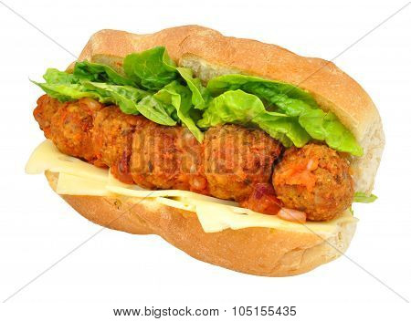 Meatball And Cheese Sandwich