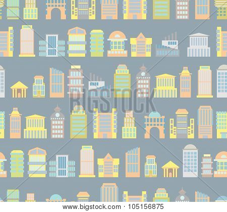 City Background. Buildings. Skyscrapers And Public Buildings. Office And Government Buildings Seamle