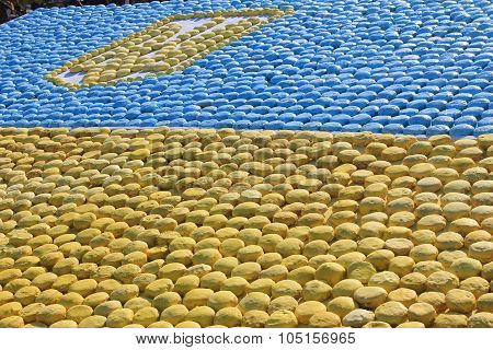 Flag of Ukraine, laid out the gingerbread