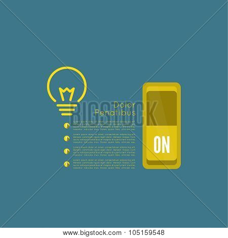 Bulb light idea with switch and gears.