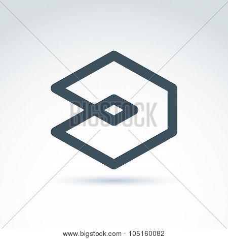 Vector abstract icon design element or corporate symbol.