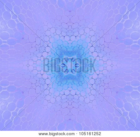 Seamless hexagon pattern purple blue