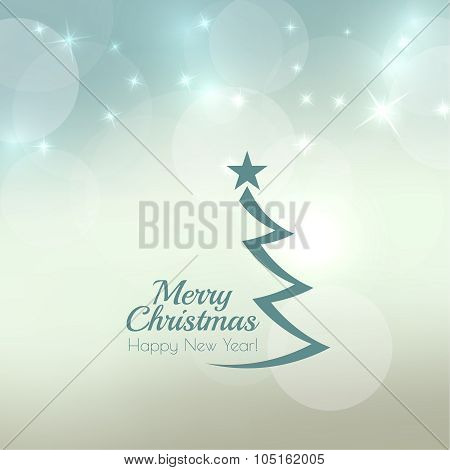 Abstract blurred vector background with sparkle stars.