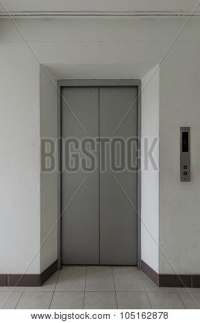 old lift door