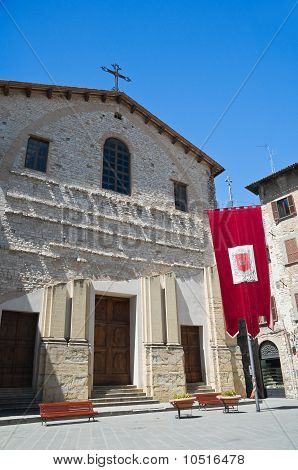 St. Domenico Church. Gubbio. Umbria.