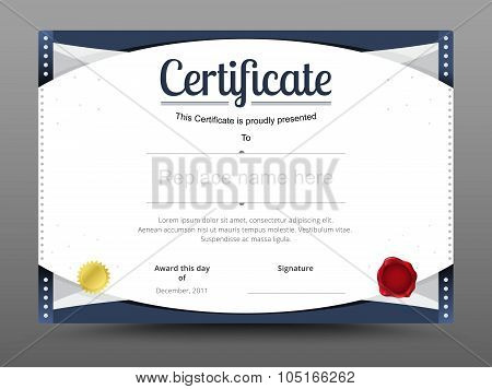 Elegant Certificate Template. Business Certificate Formal Theme. Vector Illustration.