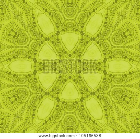 Seamless floral ornaments green