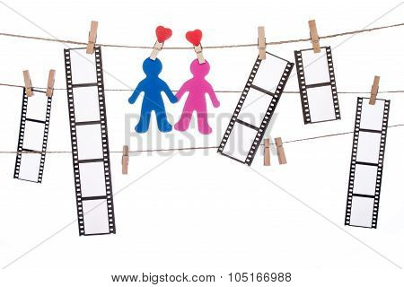 Clip  Hanging Negatives And Couple Silhouette, Love Movie