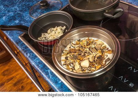 Cooking ingredients for stuffed chicken