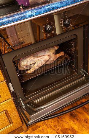 Cooking stuffed chicken
