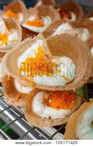 Thai Style Crisp Tart Or Khanom Bueang.