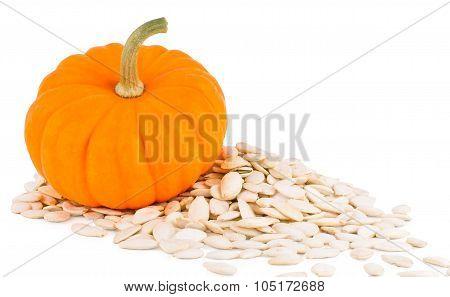 Pumpkin with pumpkins seeds