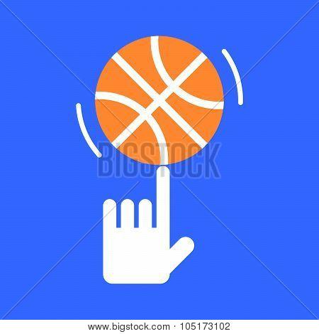Spinning Basketball On His Finger