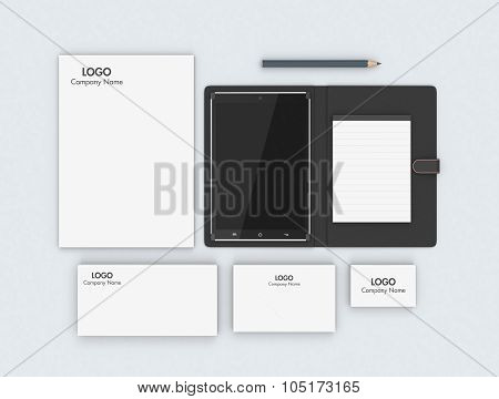 Tablet Pc And Corporate Identity