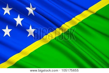 Flag Of Solomon Islands, Honiara - Melanesia