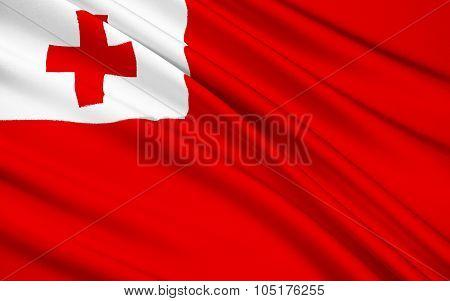 Flag Of Tonga, Nuku'alofa - Polynesia
