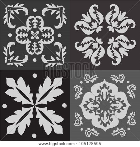Seamless Black And White Pattern Majolica, Arabic, Indian, Armenia. Stock Vector Illustration