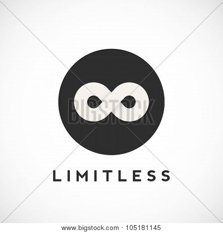 Abstract Vector Limitless Symbol, Icon or a Logo Template. Soft Shadows. Isolated