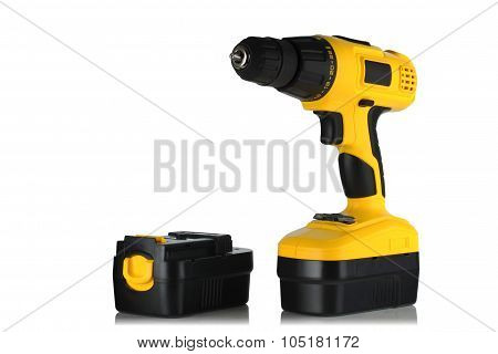 Cordless Drill Screwdriver And Battery