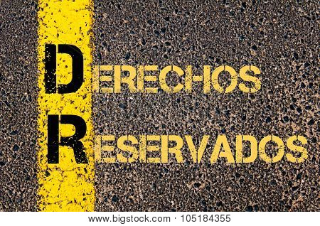 Business Acronym Dr As Derechos Reservados