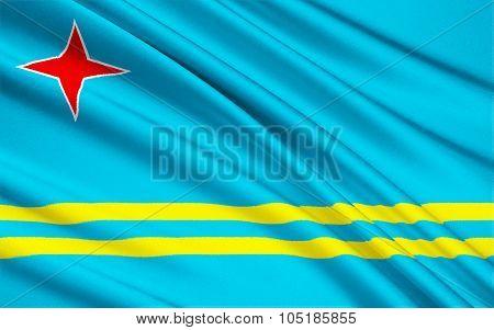 Flag Of Aruba, Netherlands - Oranjestad