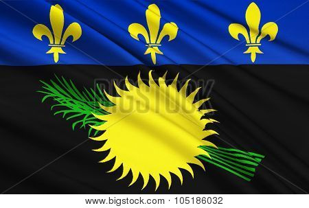 Flag Of The Guadeloupe, France - Basse-terre