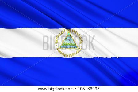Flag Of Nicaragua, Managua