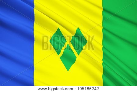 Flag Of Saint Vincent And The Grenadines, Kingstown