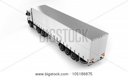Big Cargo Truck On White Background