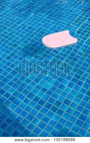 Foam Board In The Pool.