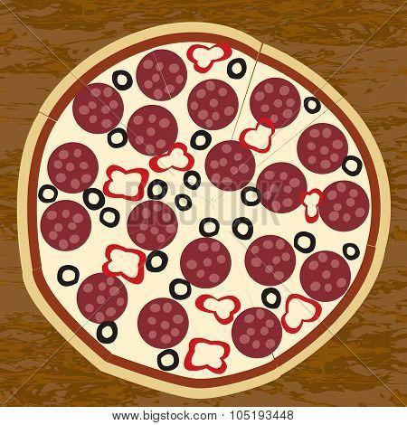 Salami Pizza