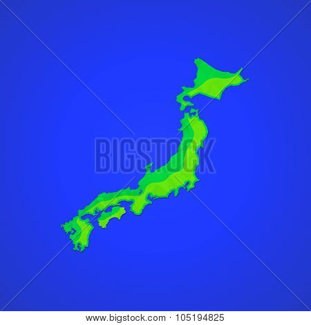 Vector Flat Abstract Japan Islands Illustration Icon.