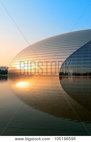 BEIJING, CHINA - APR 6: National Centre for the Performing Arts NCPA on April 6, 2013 in Beijing, China. Cost 2.8B CNY, it seats 5,452 people. The first performance was held in December 2007