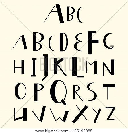 English Uppercase Geometric Alphabet