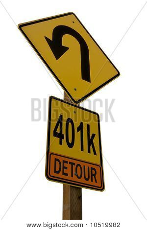 Señal de tráfico de 401 k