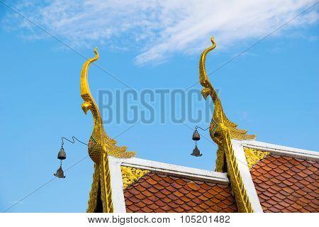 Gable apex (Chor Fha) - wat phadarabhirom temple in chiangmai thailand