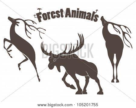 Deers And Moose