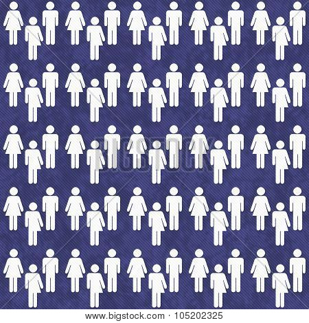 Blue And White Transgender, Man And Woman Symbol Tile Pattern Repeat Background