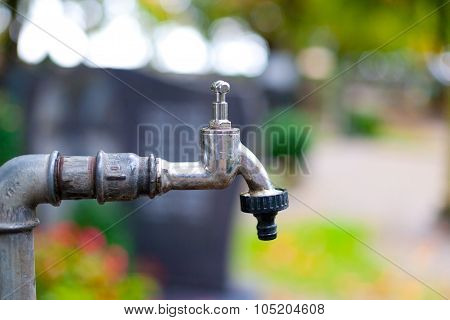 Faucet In The Graveyard.