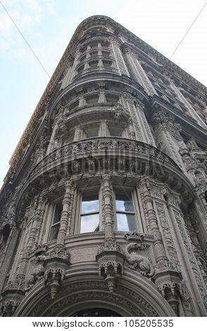 Facade of famous Alwyn Court in midtown Manhattan